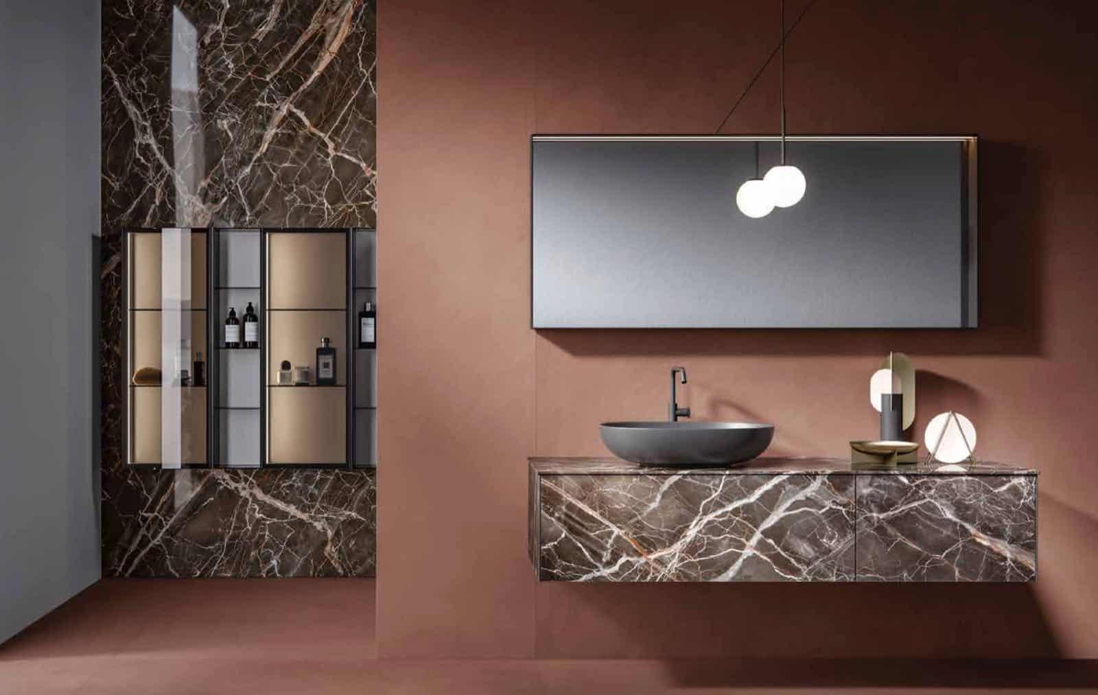 mobile bagno fondovalle in resina e marmo